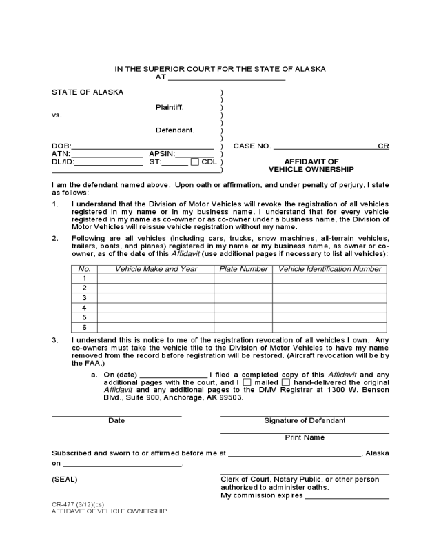 Affidavit of motor vehicle gift transfer illinois for Affidavit of motor vehicle gift transfer texas