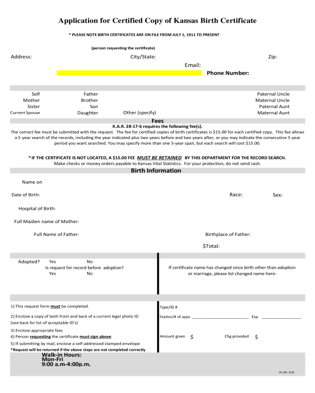 2018 Birth Certificate Form Fillable Printable Pdf Forms Handypdf