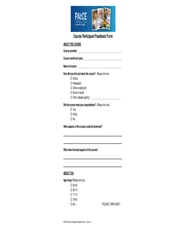 2019 Feedback Form Fillable Printable Pdf Forms Handypdf