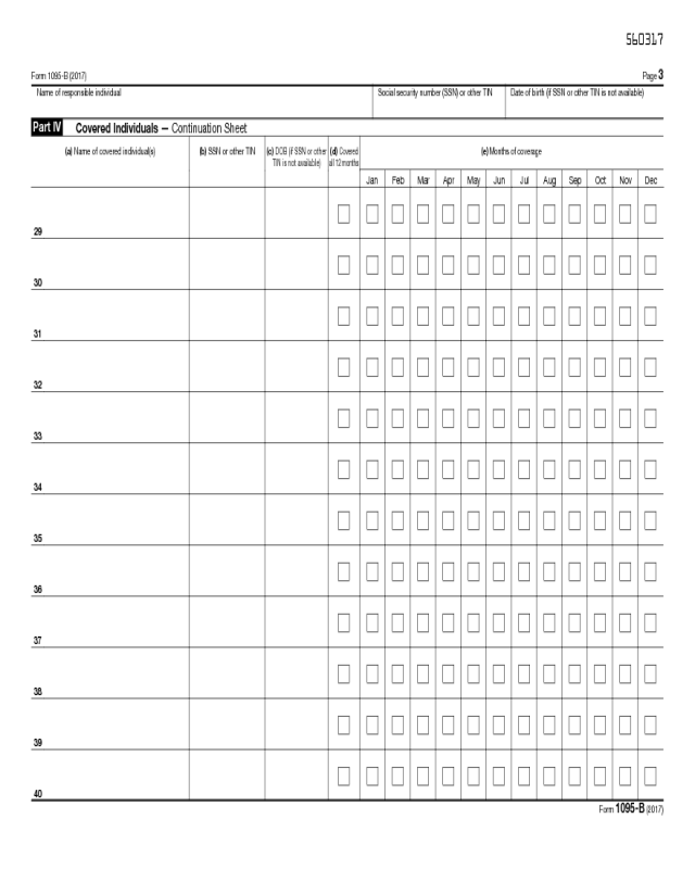 Form 1095b - Edit, Fill, Sign Online | Handypdf