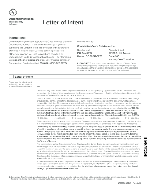 letter of intent form
