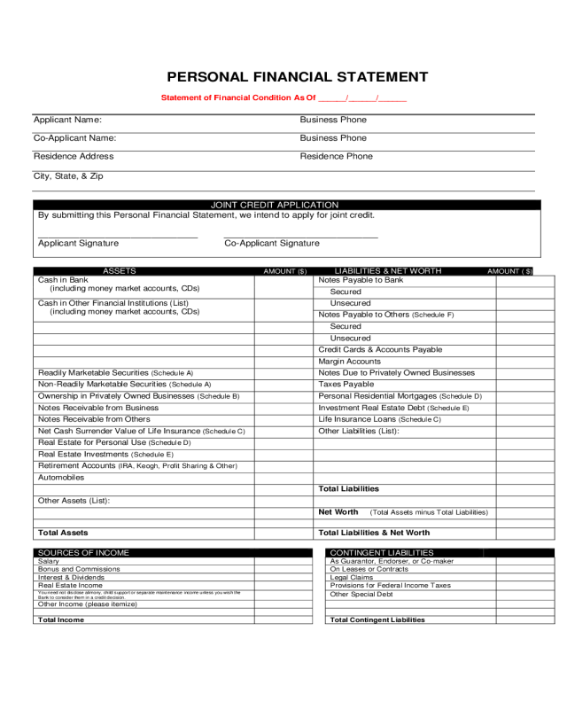 photo about Printable Financial Statement called 2019 Economical Assertion Style - Fillable, Printable PDF