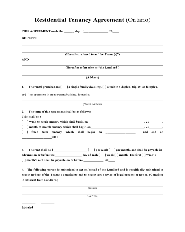 2018 General Rent Lease Agreement Form Fillable Printable Pdf