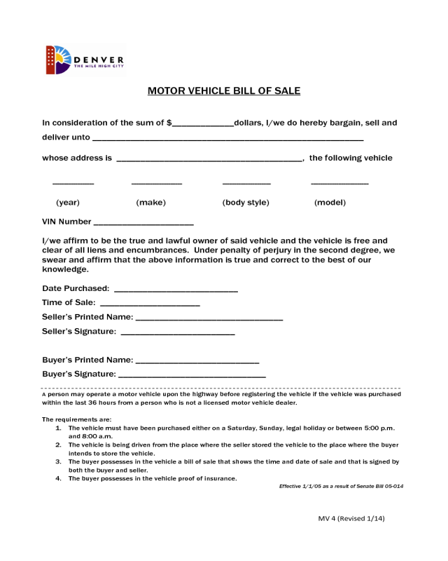 2018 vehicle bill of sale form fillable printable pdf for Nh motor vehicle bill of sale template
