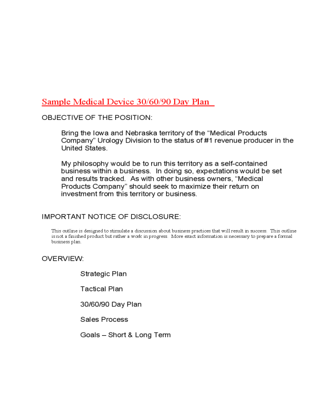 2018 30 60 90 day plan fillable printable pdf forms for 30 day performance improvement plan template