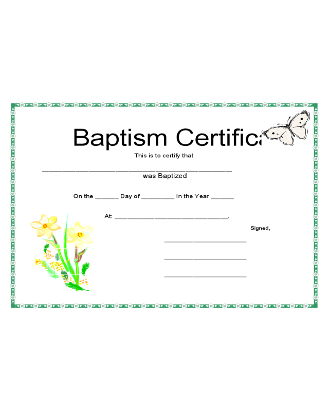 2018 baptism certificate fillable printable pdf forms for Baptism certificate template pdf