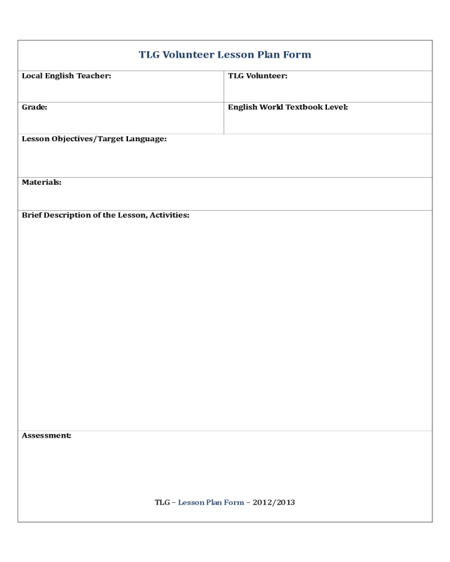 Lesson Plan Template Fillable Printable PDF Forms Handypdf - Fillable lesson plan template