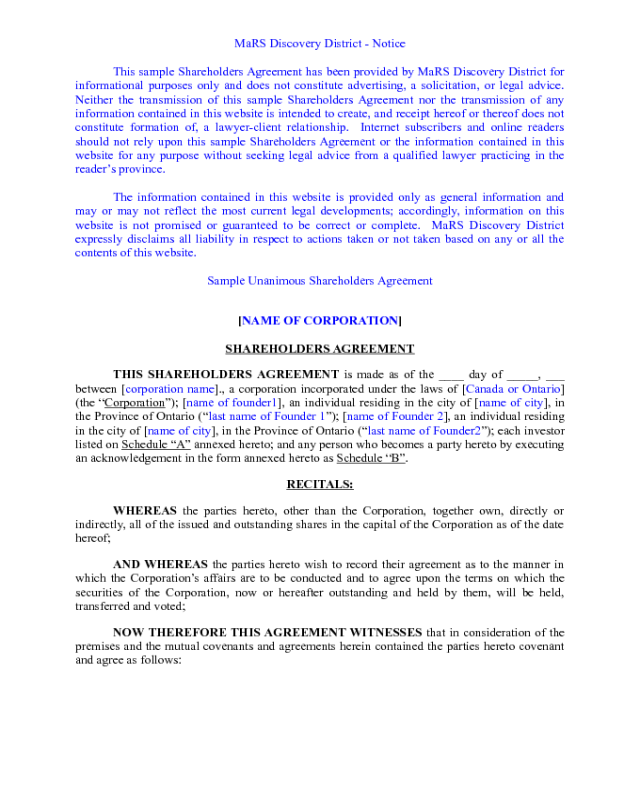 Shareholder Agreement Gallery Agreement Letter Format