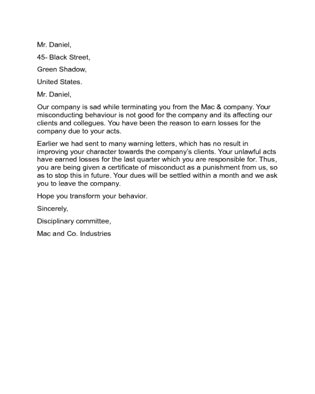 Client Termination Letter Sample from handypdf.com