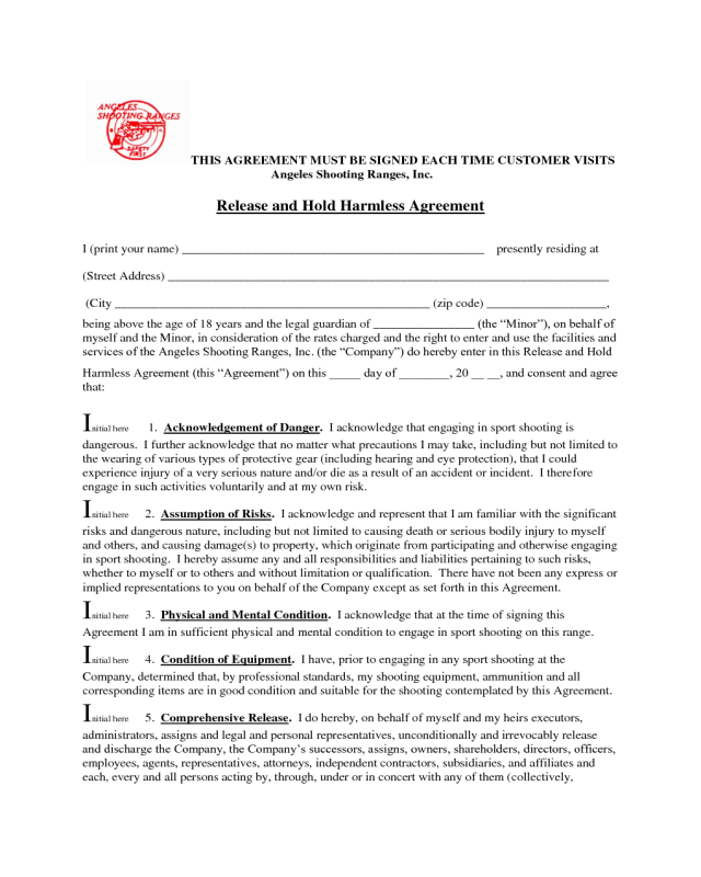 Hold Harmless Agreement Template 03 Edit Fill Sign Online – Hold Harmless Agreement Template