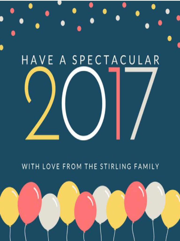 2017 cute new year greeting card