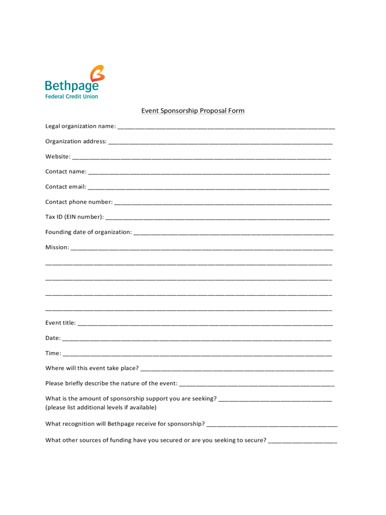 proposal for sponsorship template 100 sponsorship proposal template fillable printable pdf 46