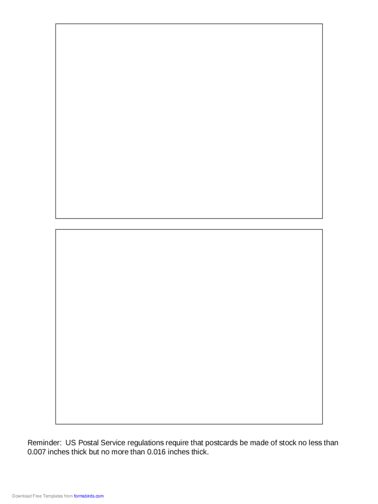 2018 postcard back template fillable printable pdf for Jumbo postcard template