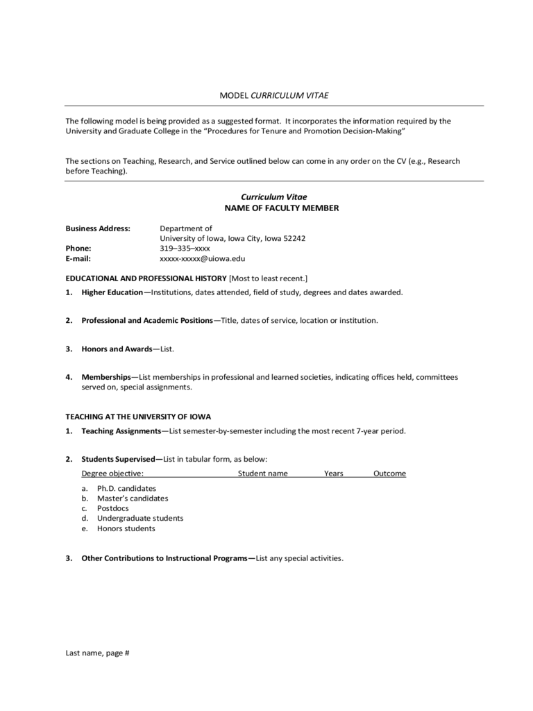 2019 professional cv template