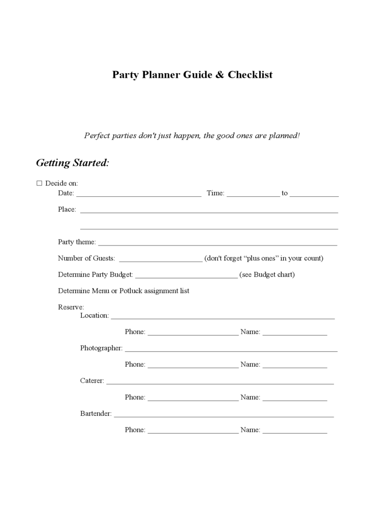 2018 birthday party checklist template fillable printable pdf birthday party checklist template maxwellsz
