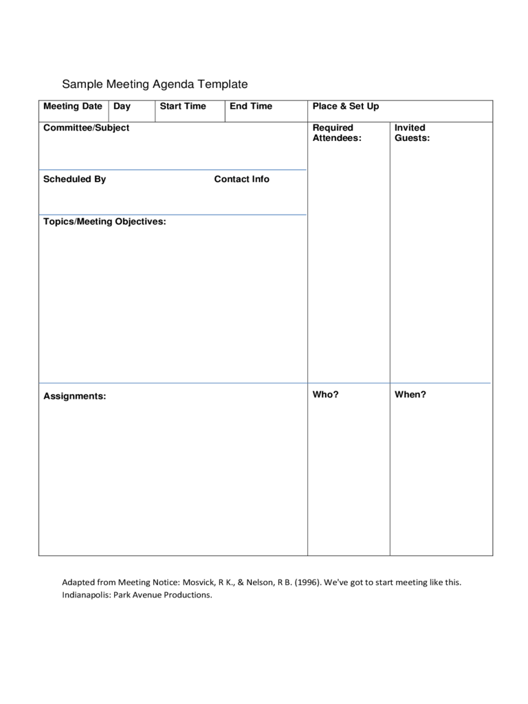meeting agenda format template kays makehauk co