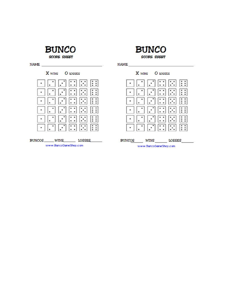 graphic regarding Printable Bunco Score Cards titled 2019 Bunco Rating Sheet - Fillable, Printable PDF Styles