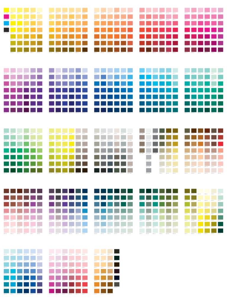 Breathtaking image within printable color chart
