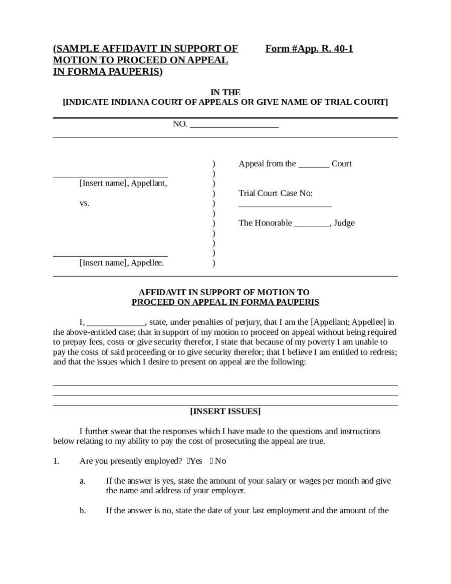 Sample Affidavit Form App R 40 1 Edit Fill Sign Online Handypdf Affidavit  Sample 01 Affidavit  Affidavit Template Uk