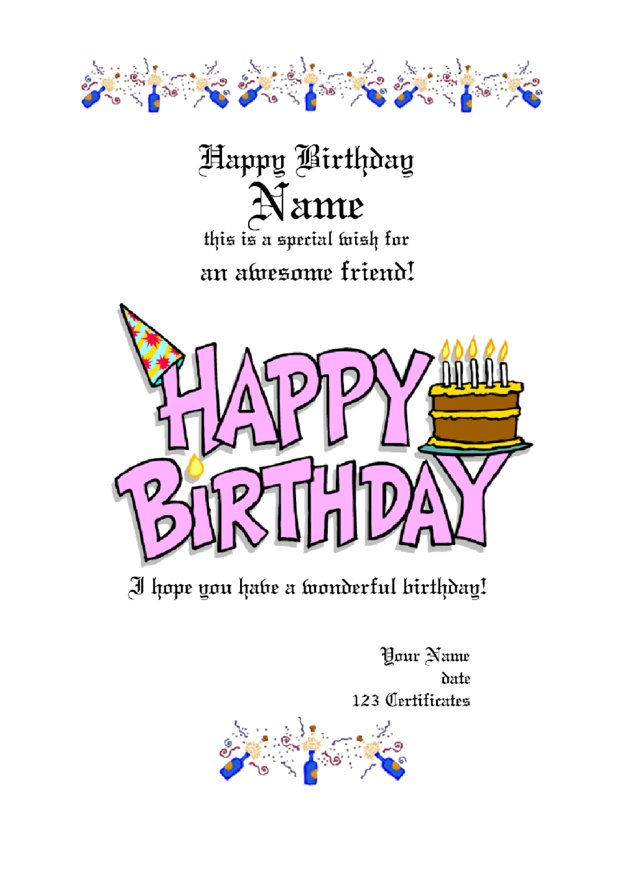 2017 gift certificate form fillable printable pdf forms free birthday gift certificate template xflitez Images