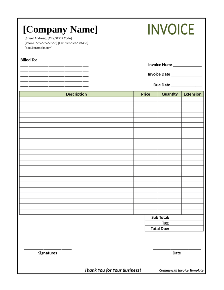 Auto Repair Invoice Template Consignment Agreement Free Pdf - Online free invoice templates