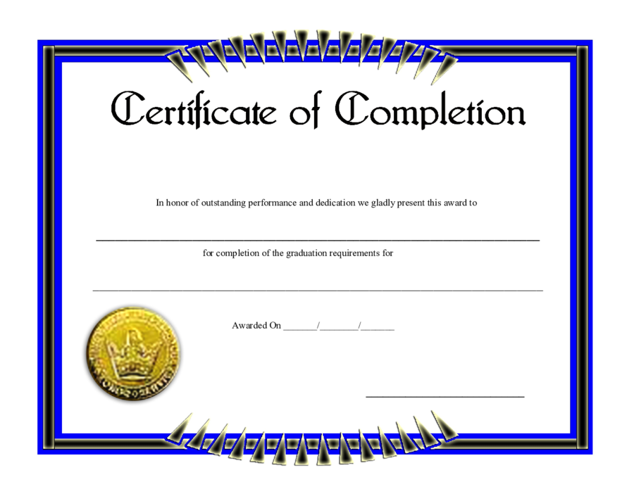 This is a graphic of Refreshing Printable Certificate of Completion