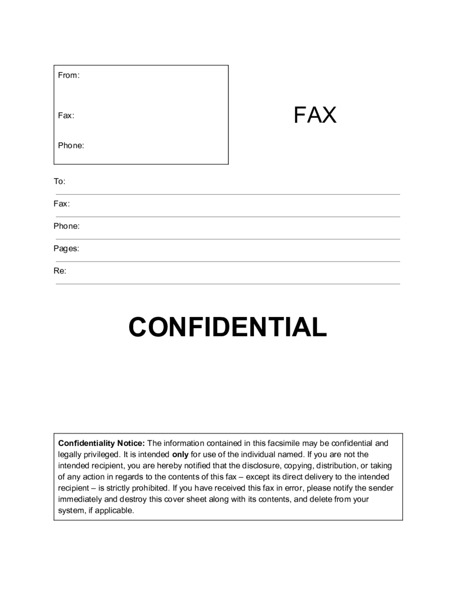 Nifty image in printable confidential cover sheet
