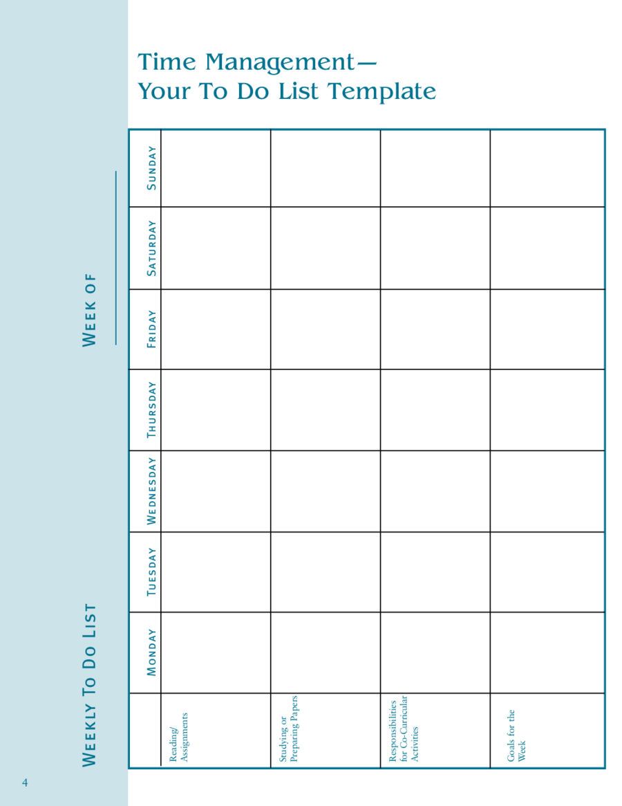 2017 To Do List Template - Fillable, Printable PDF & Forms | Handypdf