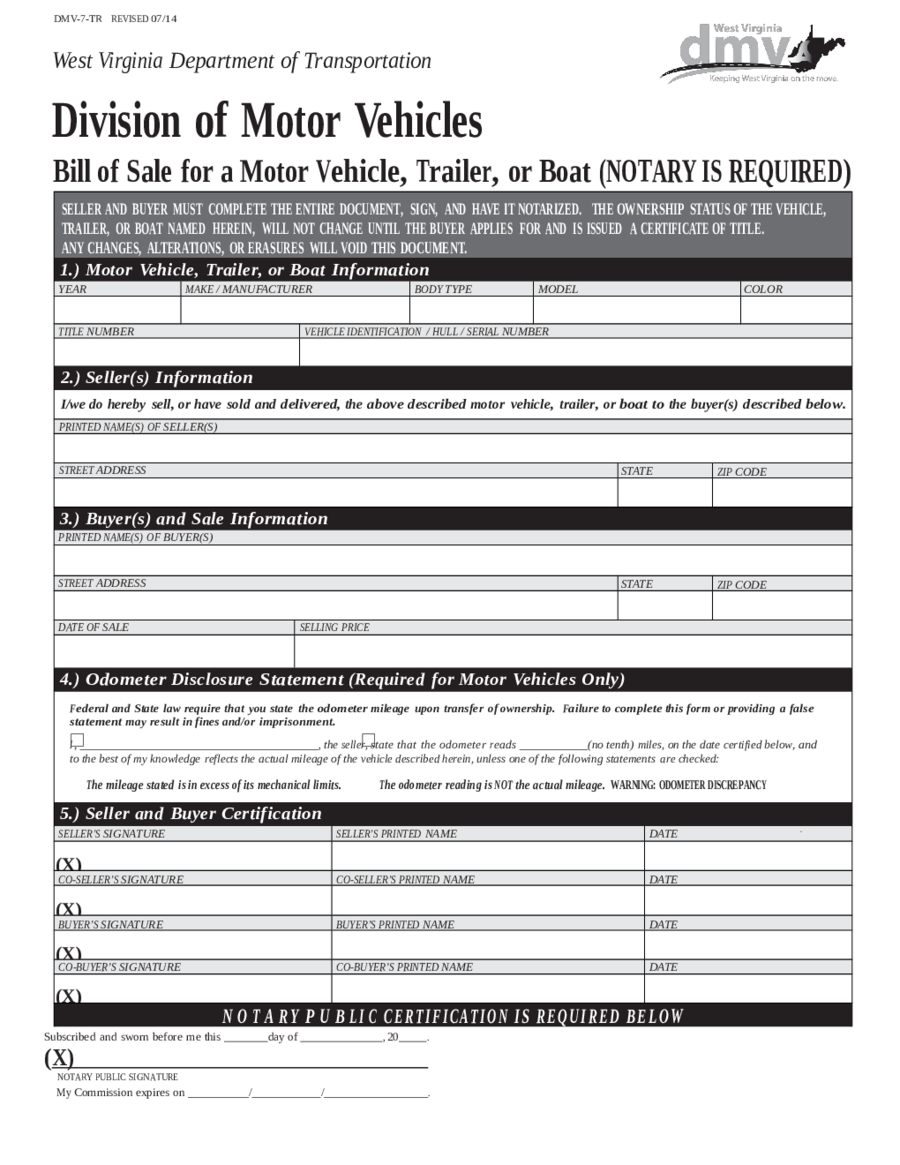 2018 dmv bill of sale form fillable printable pdf for South carolina department of motor vehicles bill of sale