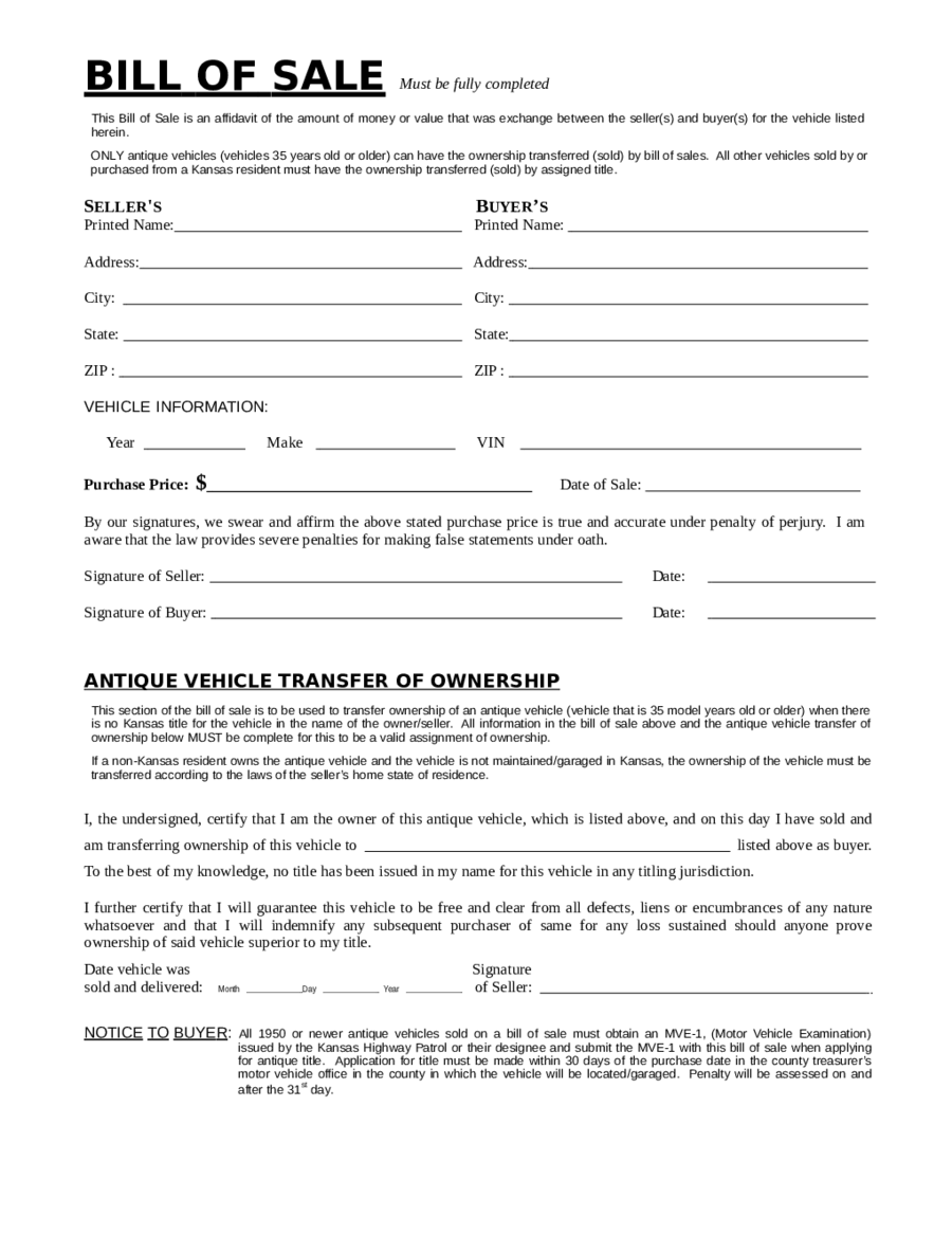 2018 dmv bill of sale form fillable printable pdf forms handypdf. Black Bedroom Furniture Sets. Home Design Ideas