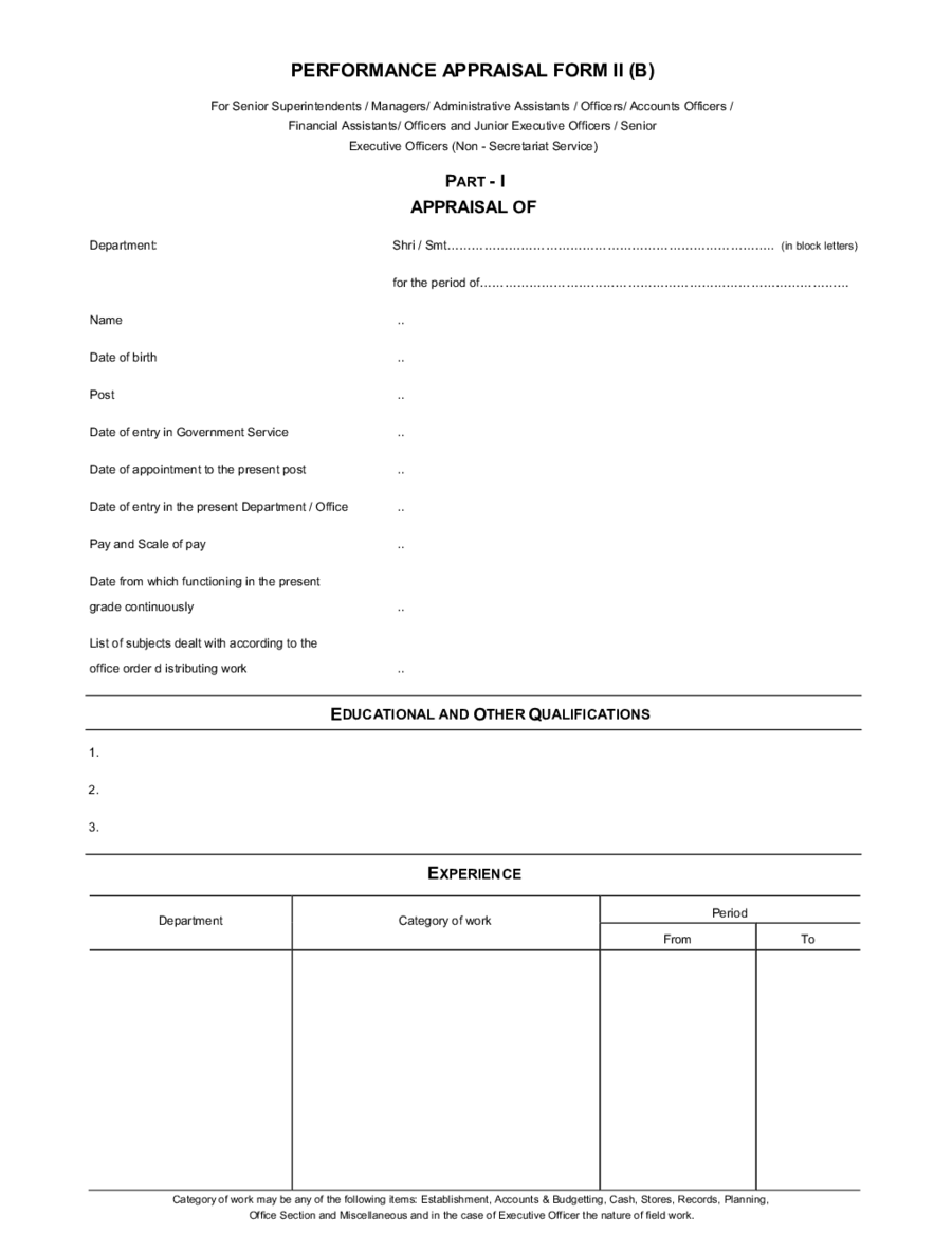 2018 Employee Evaluation Form - Fillable, Printable PDF & Forms ...