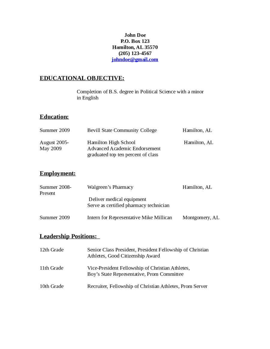 Resume Objective Example  Basic Resume Objectives