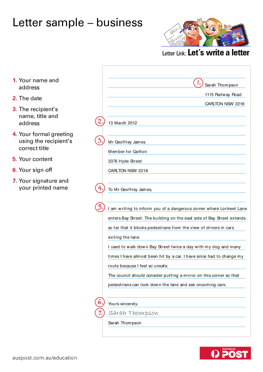 Formal Letter Templates  Fillable Printable Pdf  Forms