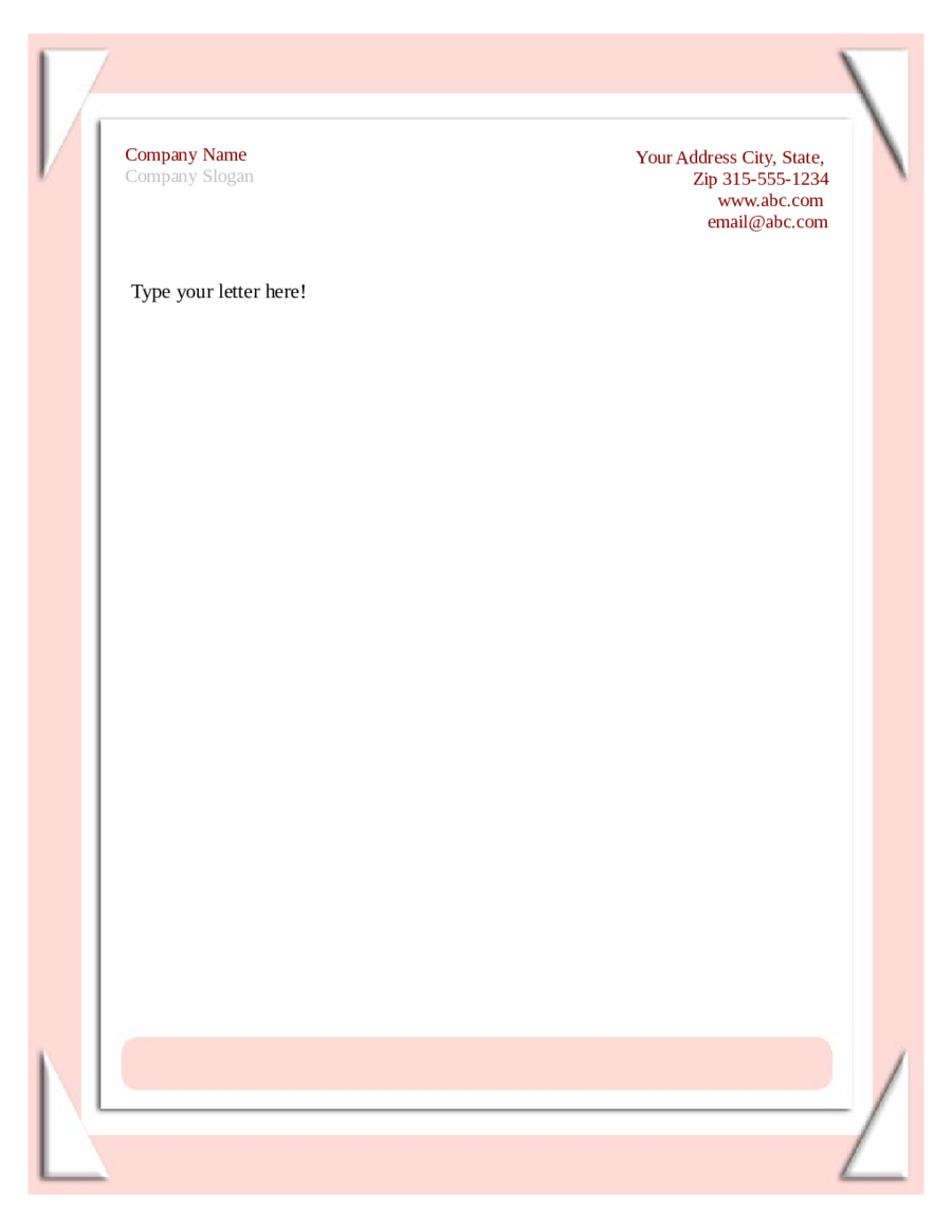 Business Letterhead Templates Free  Free Printable Letterhead Templates