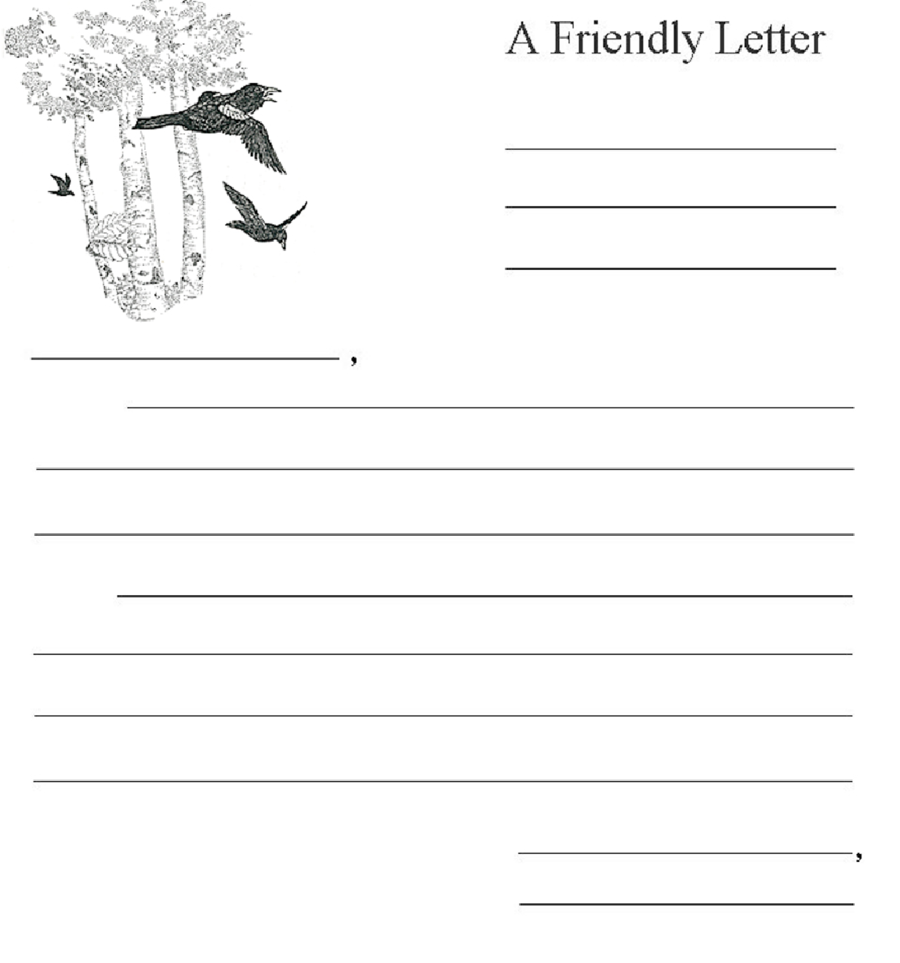 format of writing a letter to a friend