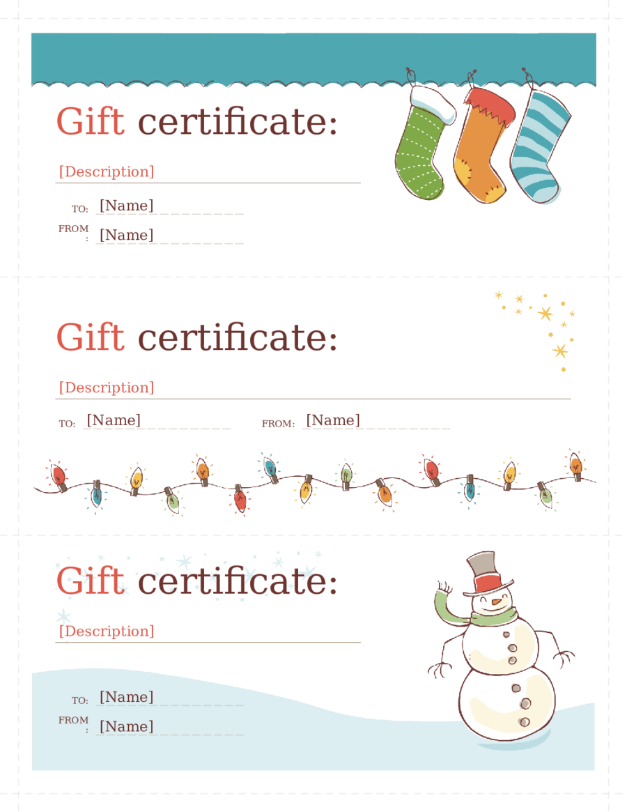 2018 gift certificate form fillable printable pdf for Downloadable gift certificate templates