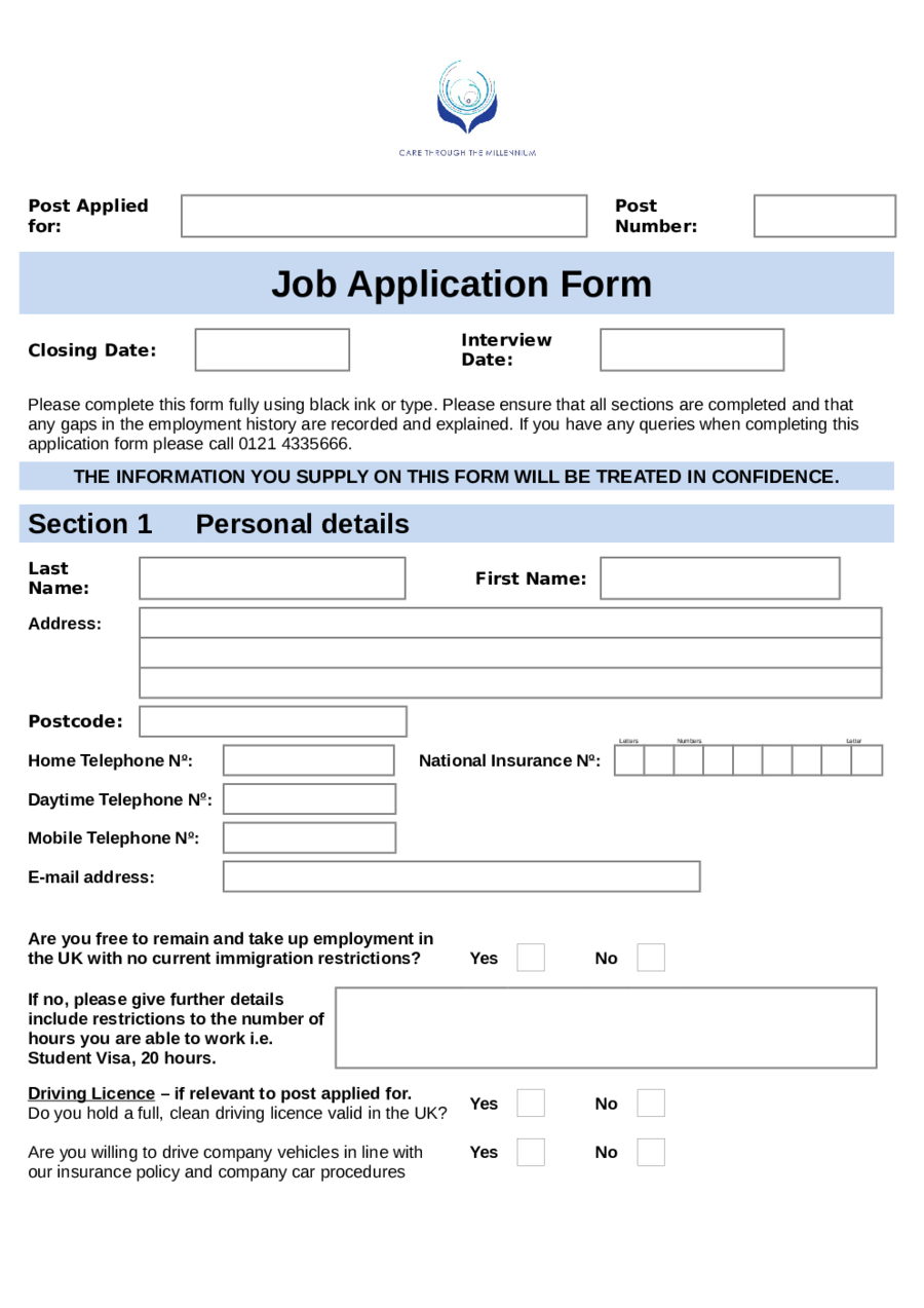 job-application-forms-01 Job Application Form Template Excel Pdqb on