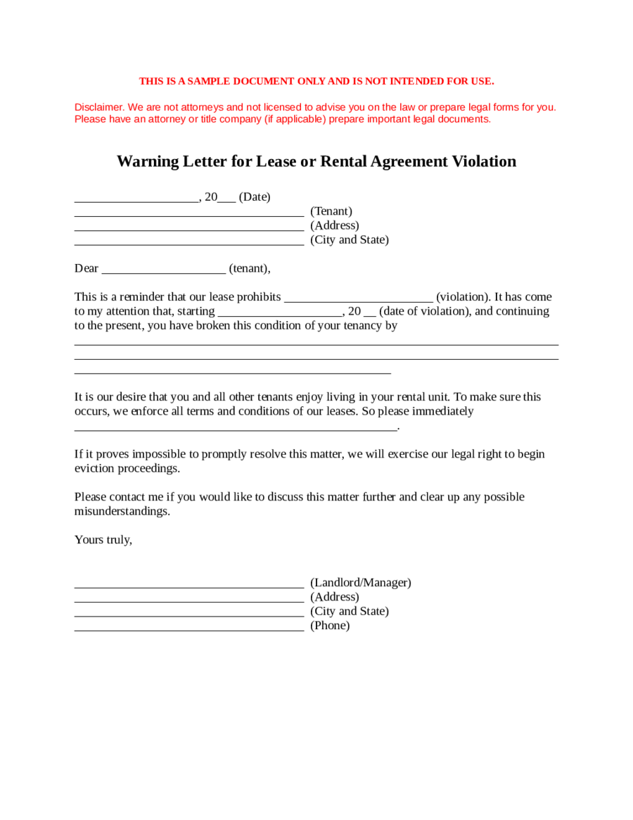 termination of rental agreement letter template
