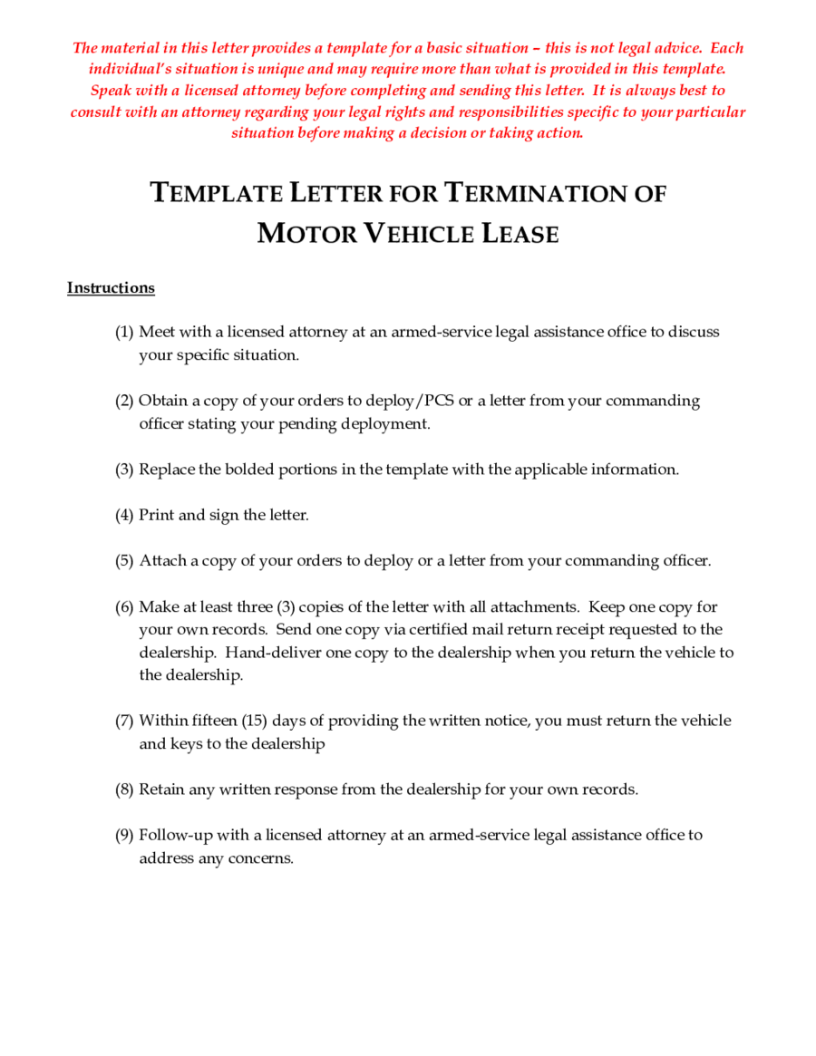Lease Termination Letter Template New  Format For Termination Letter