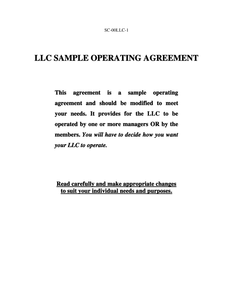 Llc Operating Agreement Amendment Template Edit Fill Sign Online