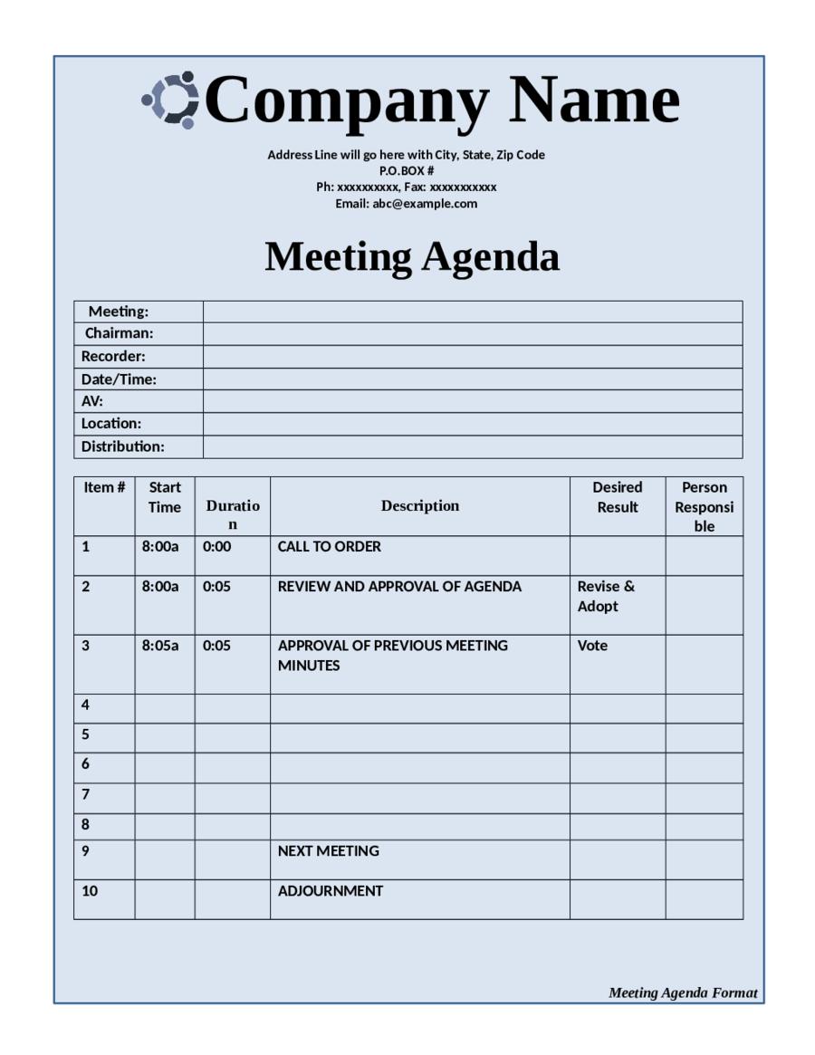 Meeting agenda templates free trattorialeondoro maxwellsz