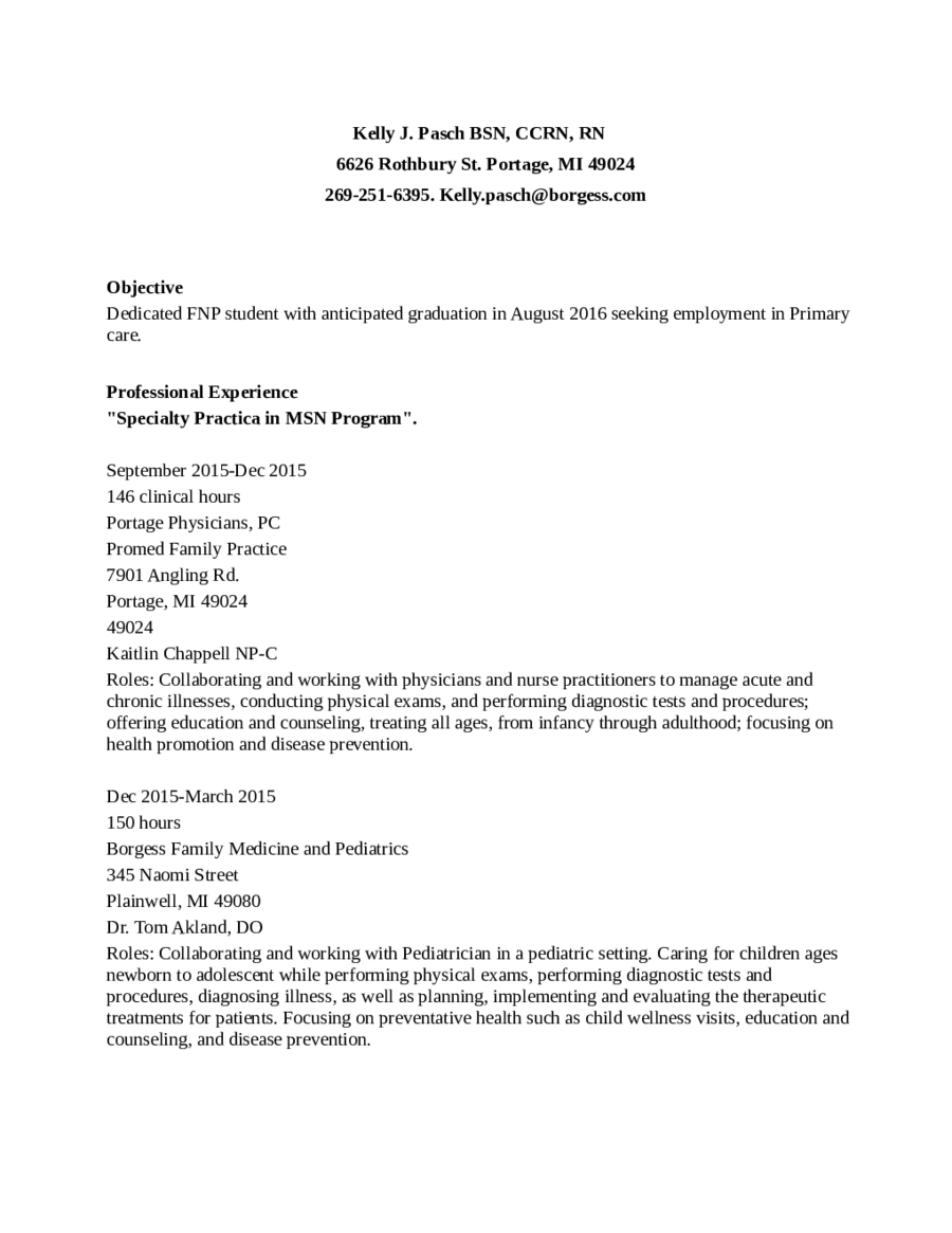 Nurse Resume Template-BSN (Registered Nurse) - Edit, Fill ...