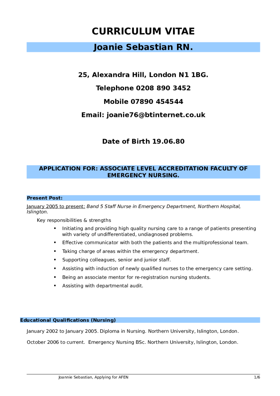 nursing resume sample 01