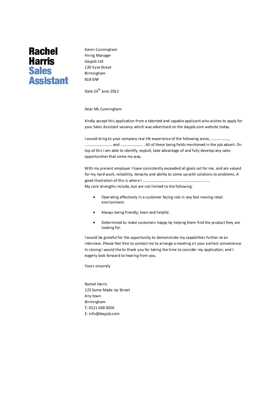 Retail Sales Cover Letter Examples. Amazing Retail Assistant Store Manager  Cover ...