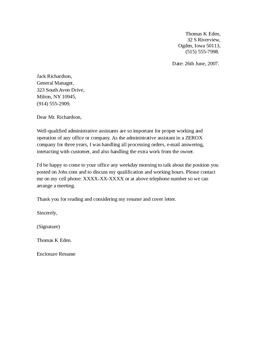 office assistant cover letter 2019 office assistant cover letter fillable printable 23827 | office assistant cover letter example 0479619
