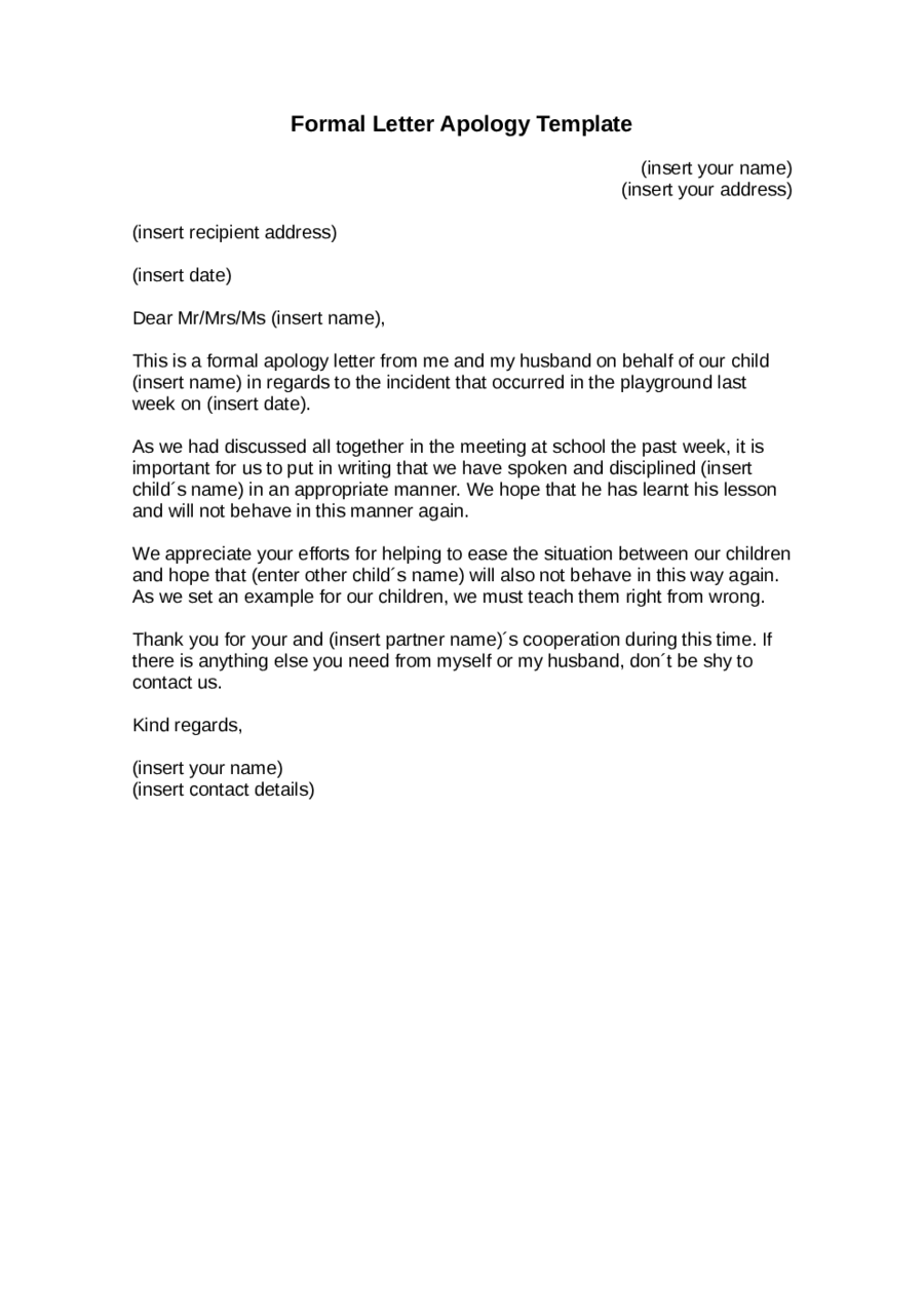 official business letter format