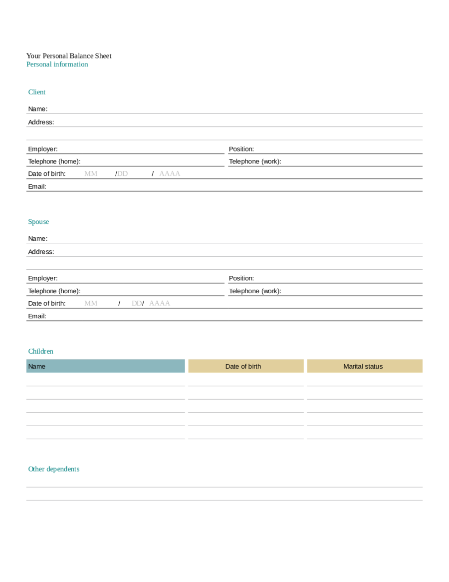 farm balance sheet template excel - excel balance sheet template edit fill sign online