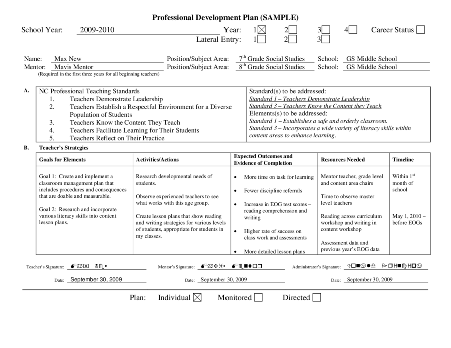 educational development plan template - 2018 personal development plan fillable printable pdf