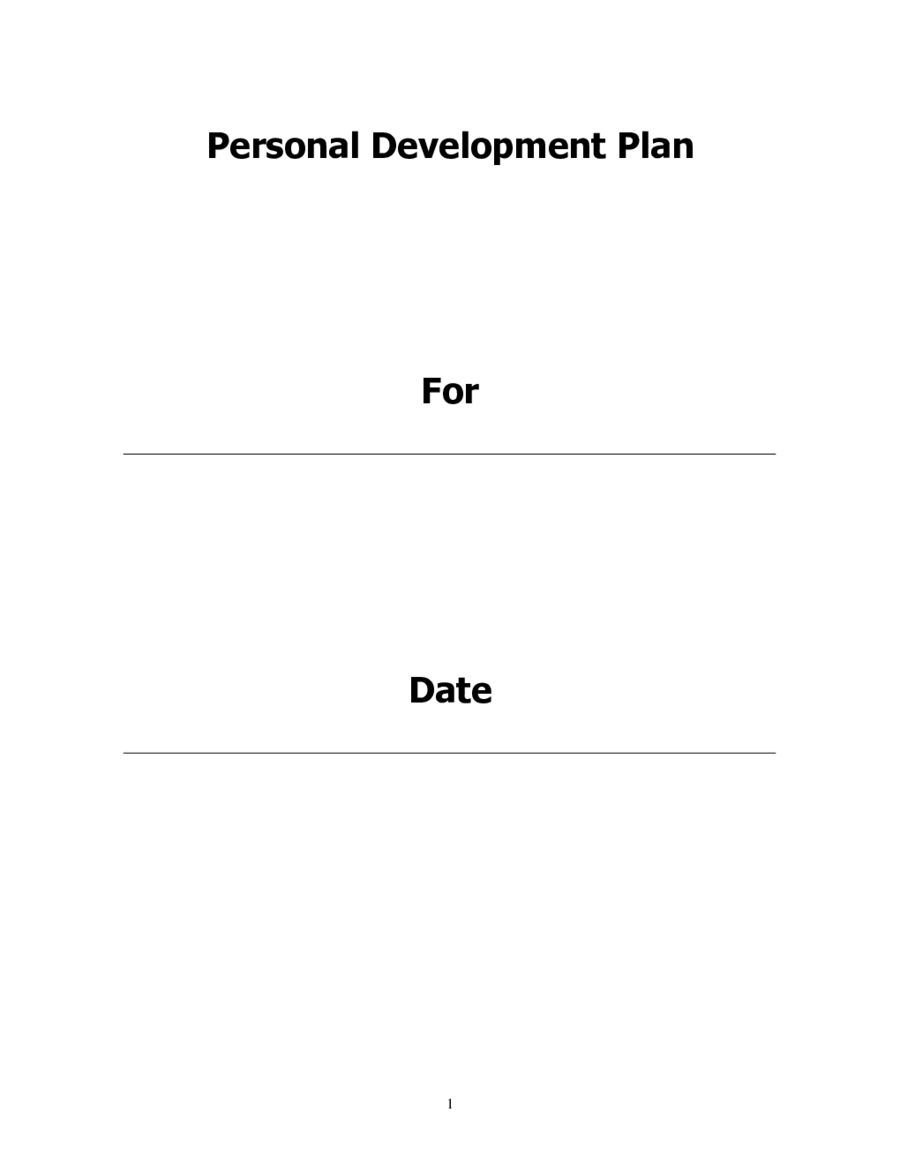 2018 Personal Development Plan - Fillable, Printable PDF & Forms ...