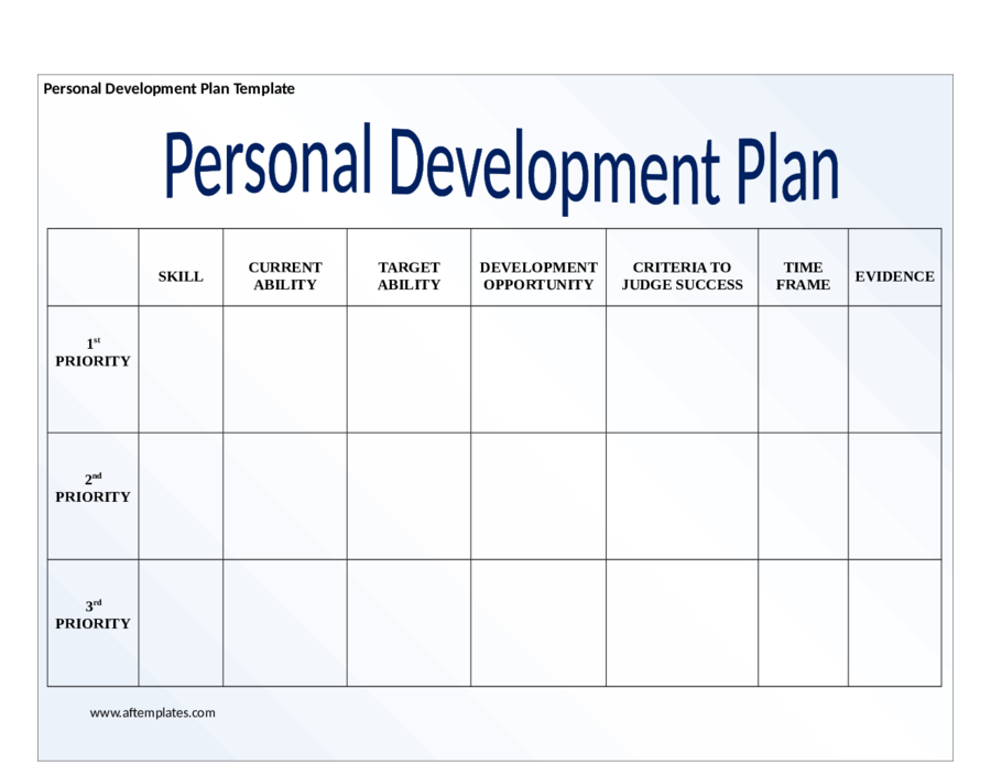 2018 personal development plan fillable printable pdf for Developing a business strategy template